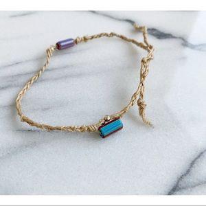 HANDMADE Beaded & Braided Hemp Anklet / Bracelet